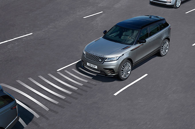 Range Rover Velar Mid Size SUV Driver Aids Technology Adaptive Cruise Control