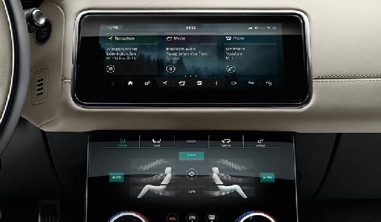 Range Rover Velar Mid Size SUV Dual View Touch Screen Technology