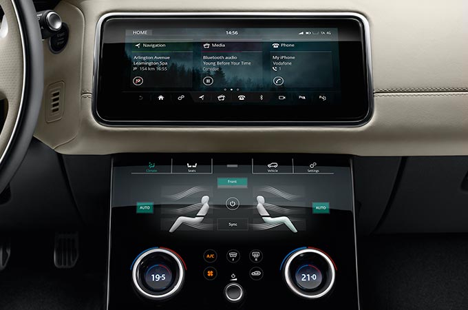 Range Rover Velar Mid Size SUV Interior Touch Screen Technology