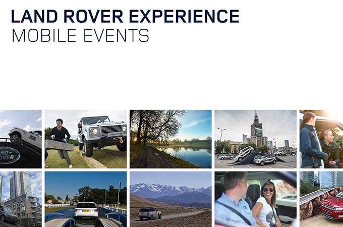 Land Rover mobile off-road experience brochure.