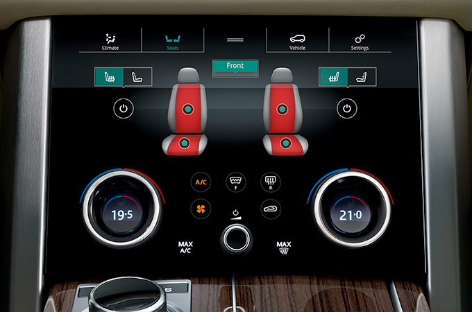 Range Rover Heated and Cooled Seats