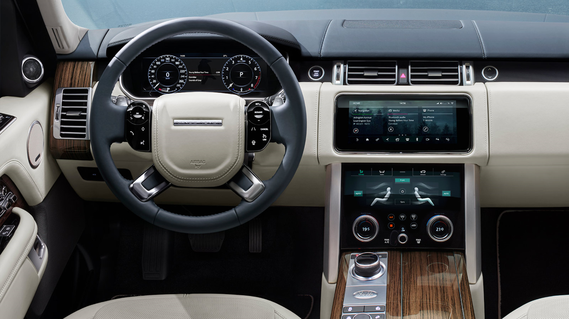 New range rover luxueuze suv fotogalerij land rover for Exterieur interieur