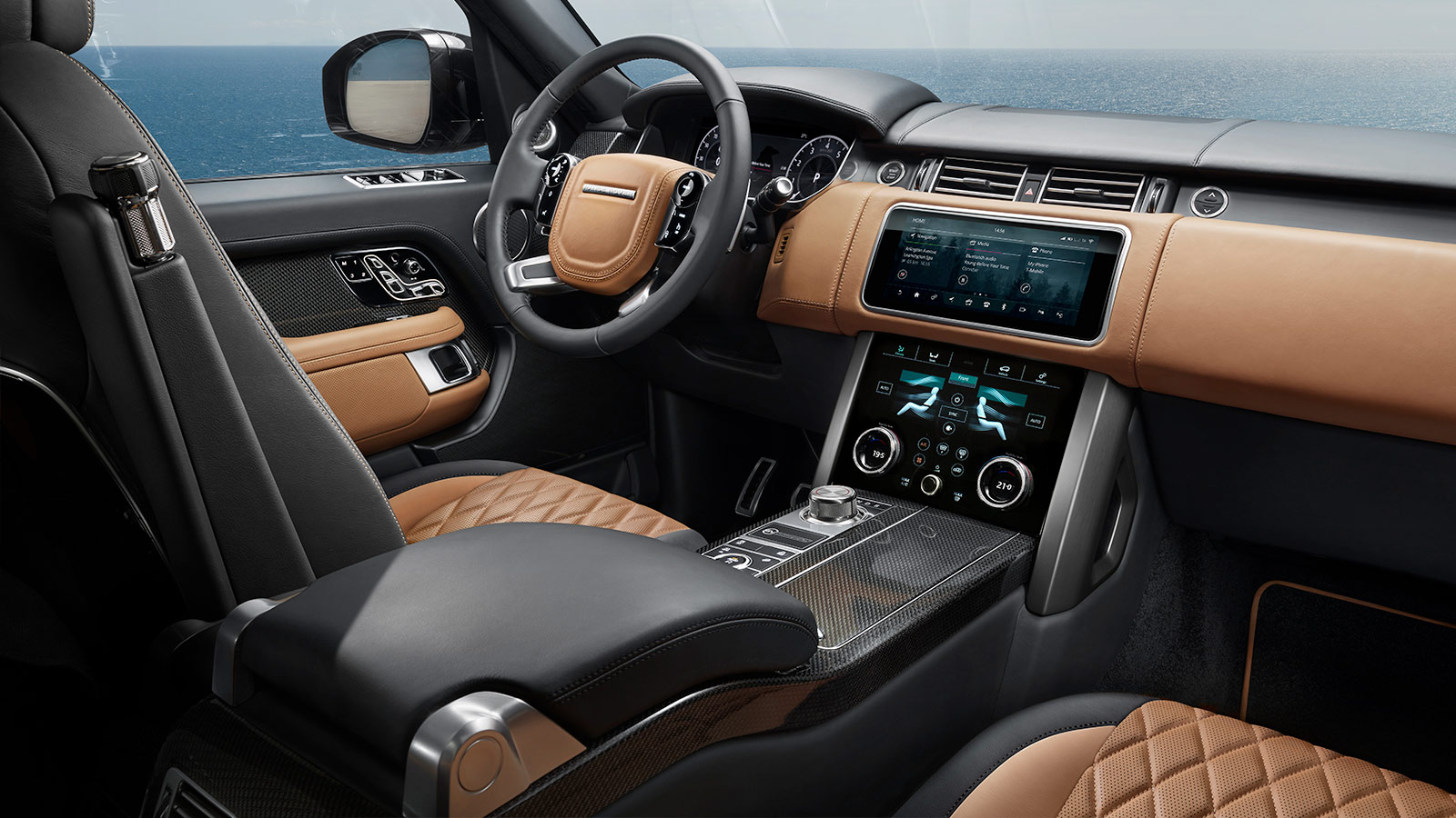 Range rover interior gallery land rover - Range rover with red leather interior ...