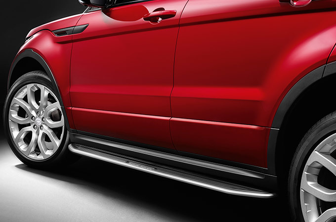 The Range Rover Evoque's automatic side steps