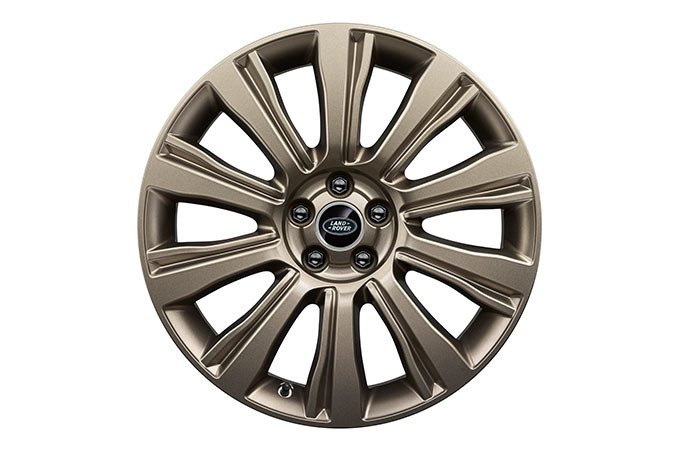 The Range Rover Evoque's 20-Inch V-spoke alloy wheels with silver finish