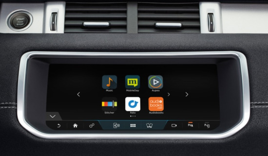 Evoque Convertible's InControl Connect Pro infotainment system.