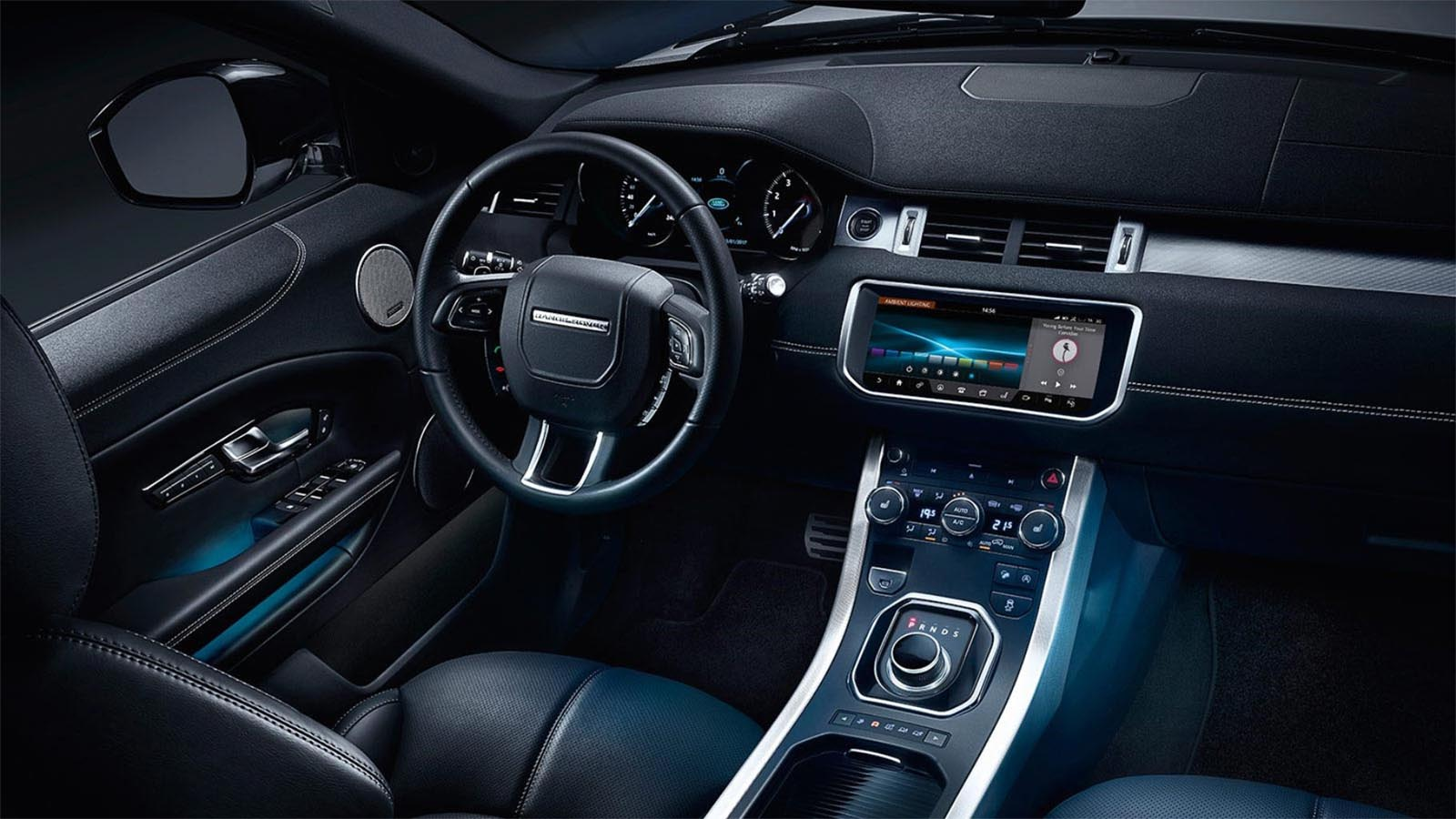 Range Rover Evoque - Sophisticated leather interior and controls