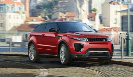 urban SUV: The Range Rover Evoque city driving