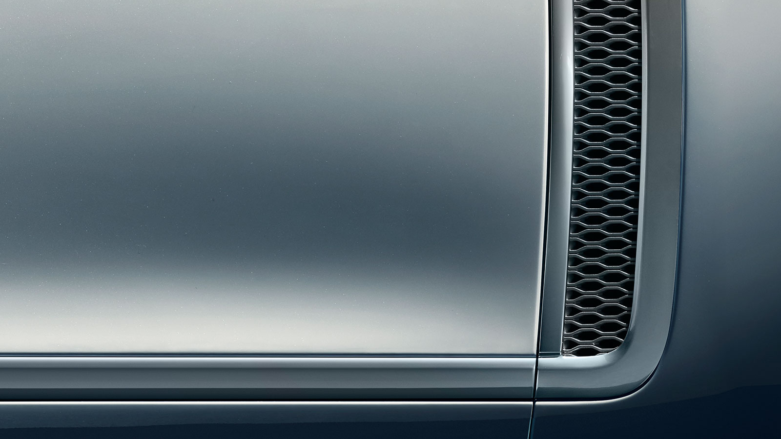 The Range Rover SV Coupé Valloire White Contour Graphic side vent close up