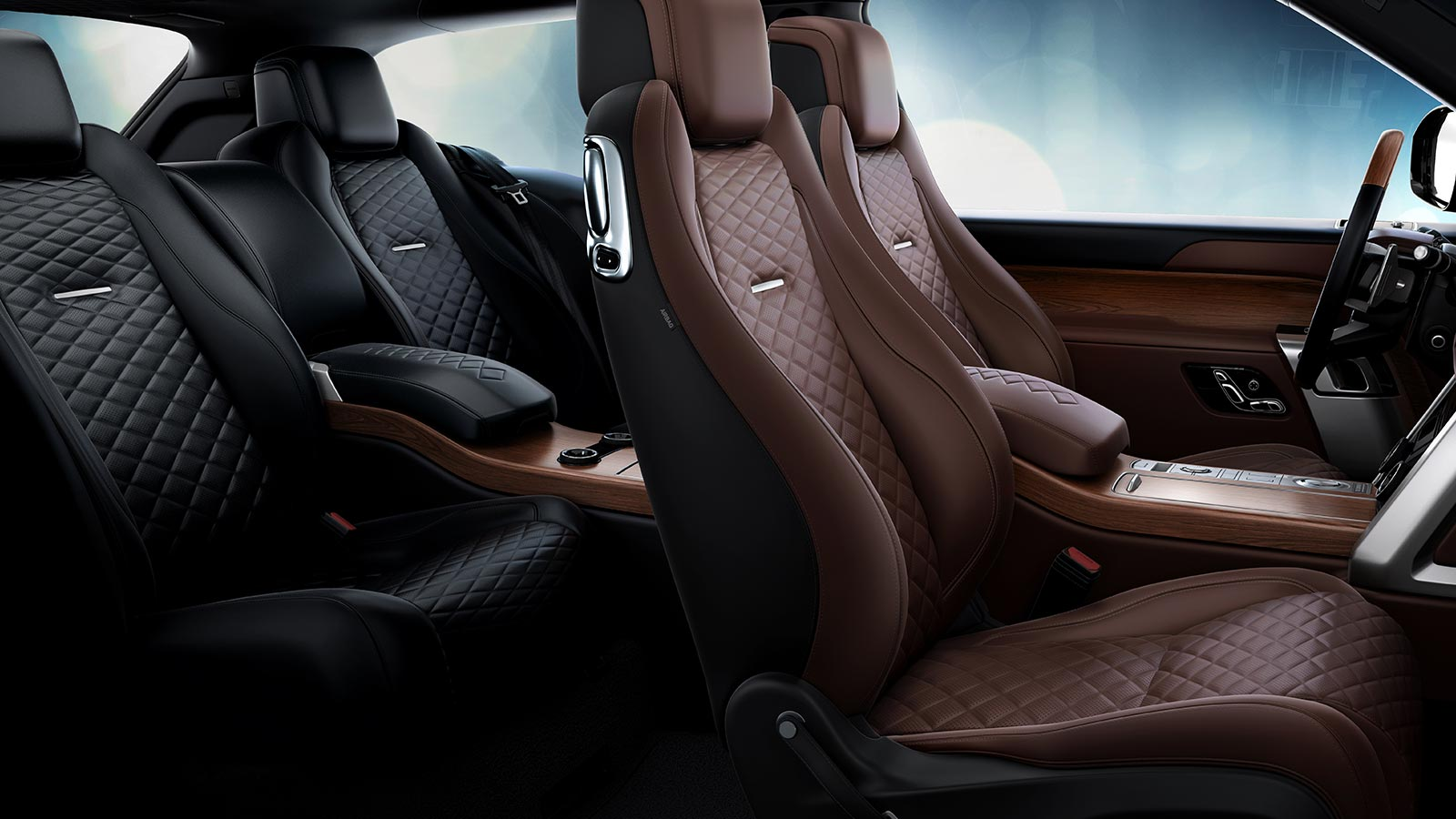 The Range Rover SV Coupe interior in Ebony and Brogue