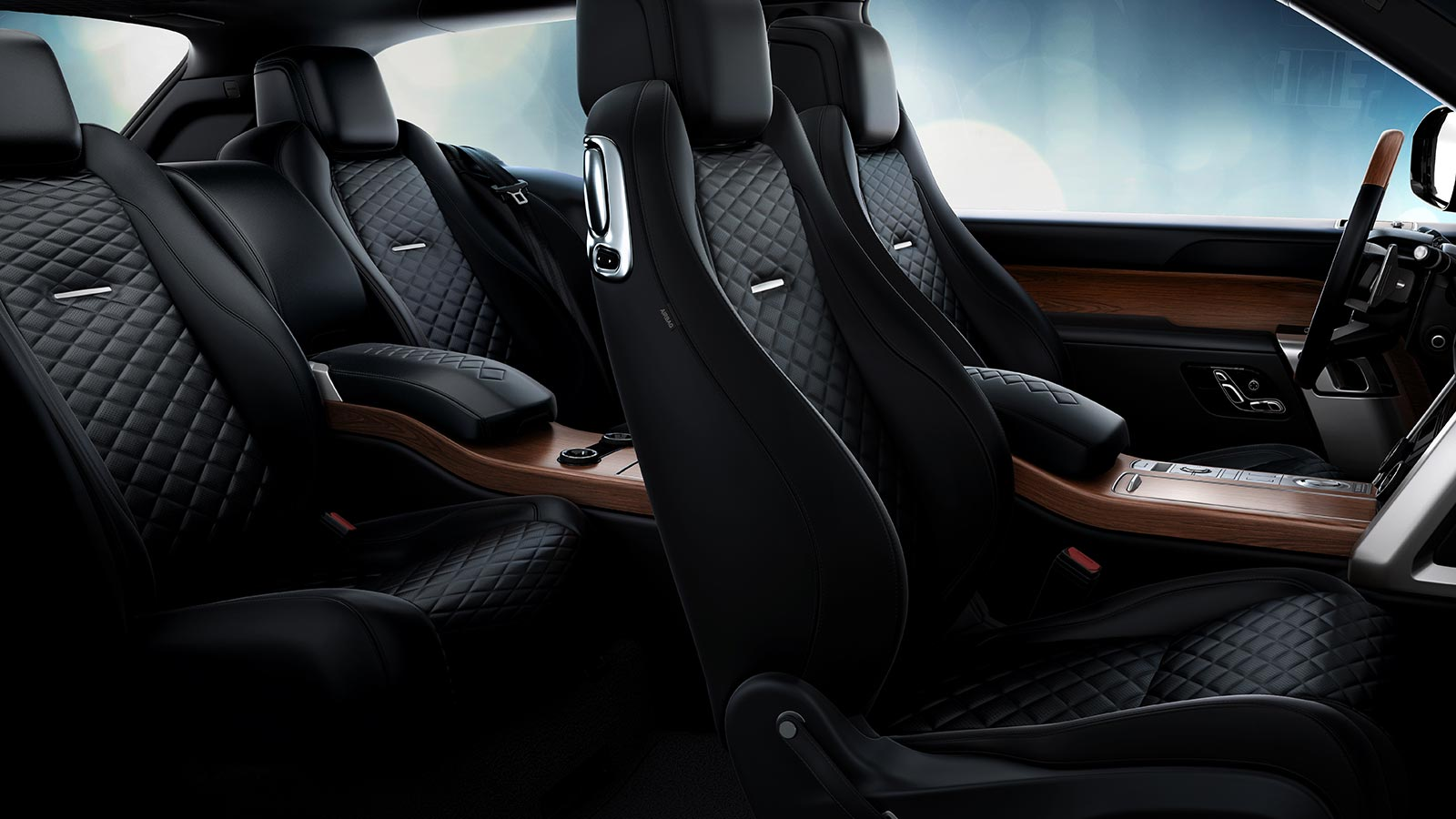 The Range Rover SV Coupe interior in Ebony and Ebony