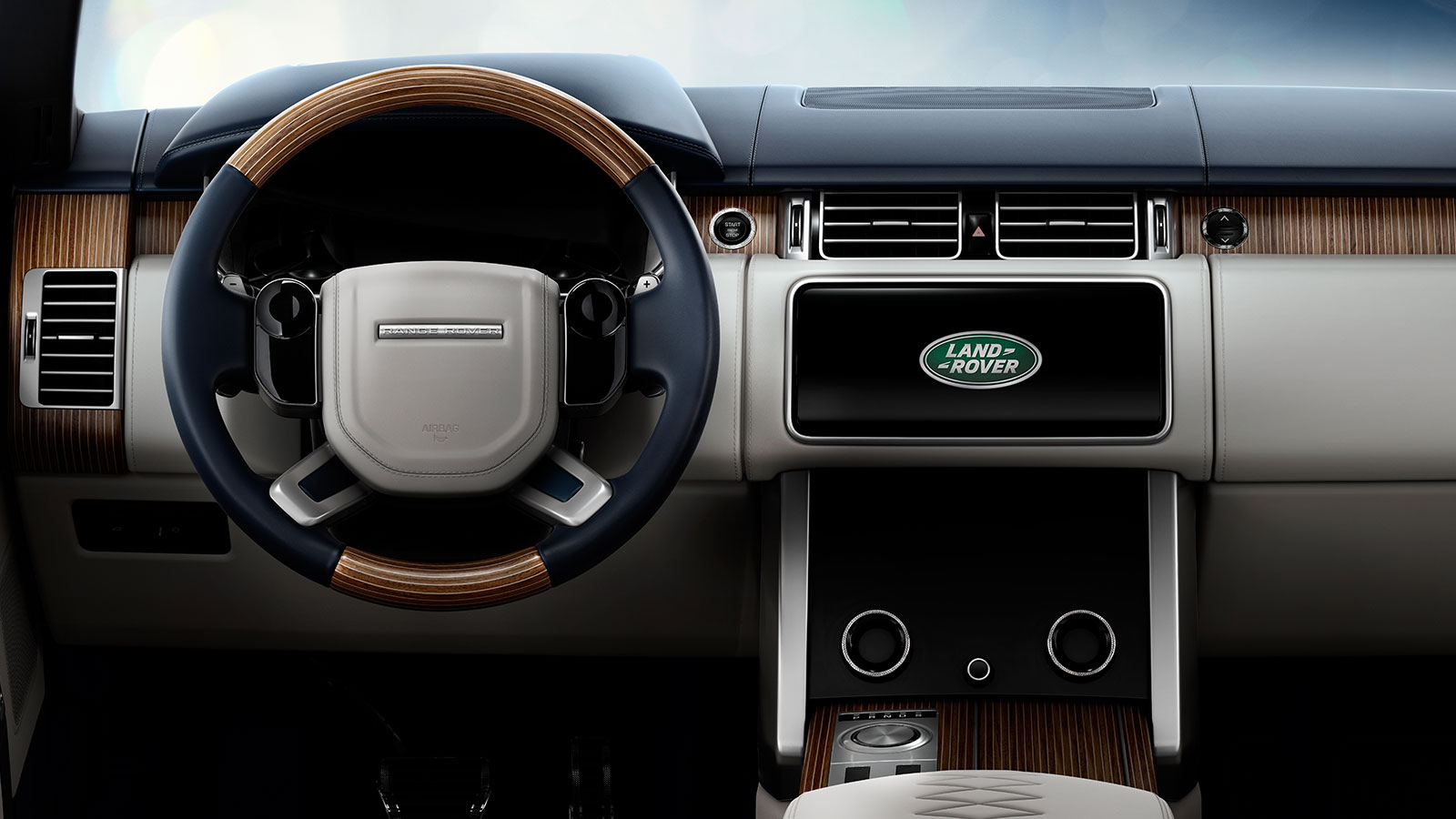The Range Rover SV Coupe interior Touch Pro Duo touchscreen technology