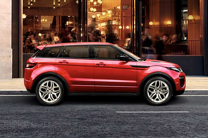 Range Rover Evoque de color rojo