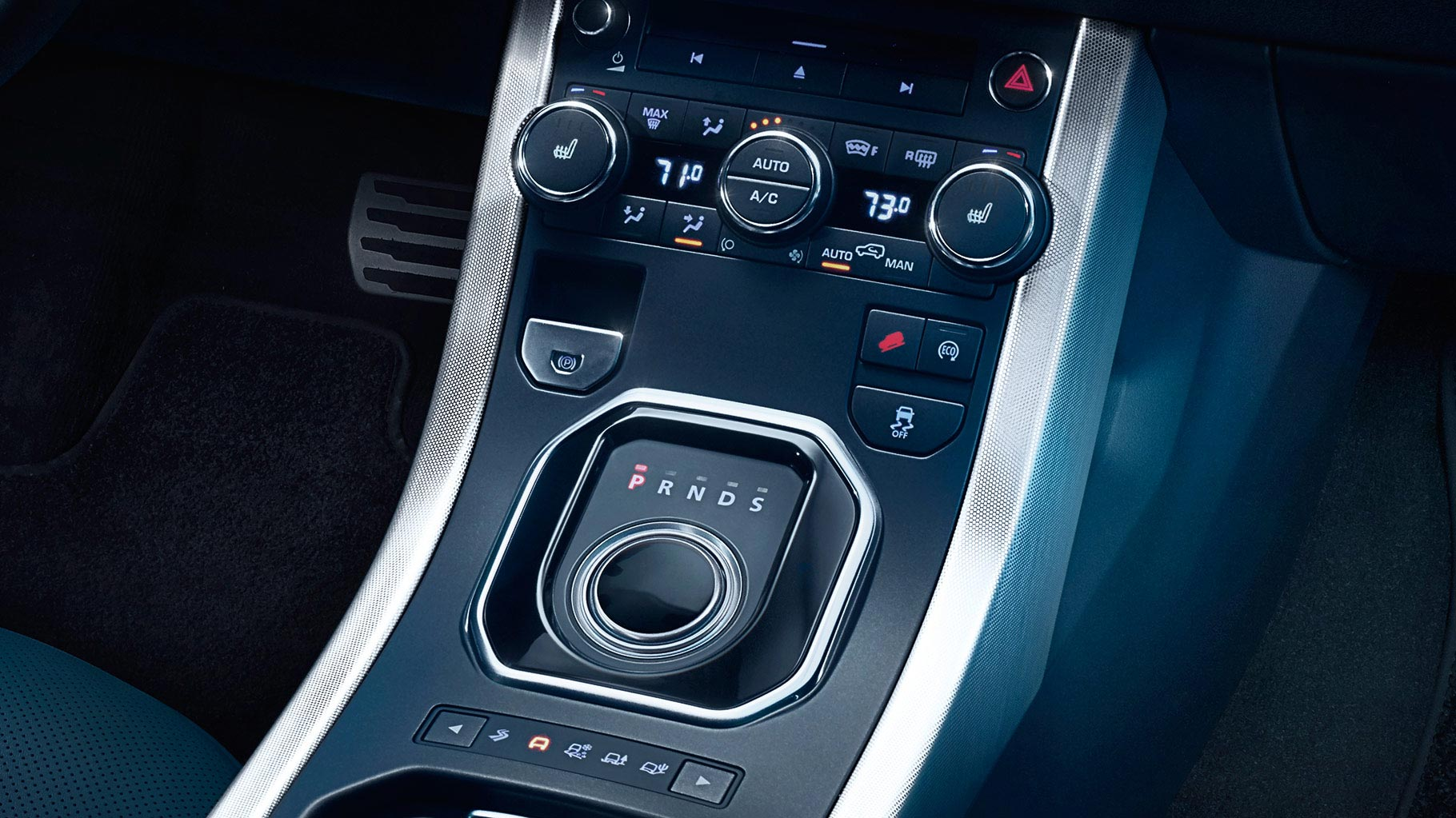 The automatic 9-speed transmission of the Range Rover Evoque