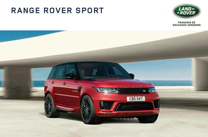 A performance SUV: the Range Rover Sport's brochure.