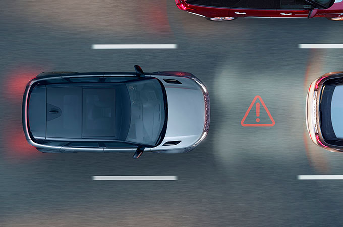 New Range Rover Evoque Emergency Braking.