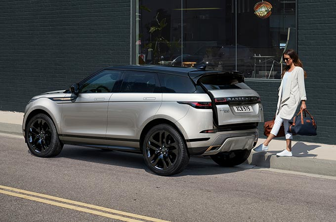 New Range Rover Evoque powered gesture tailgate.