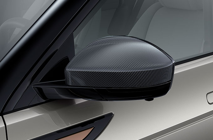 New Range Rover Evoque Carbon Fibre Mirror.