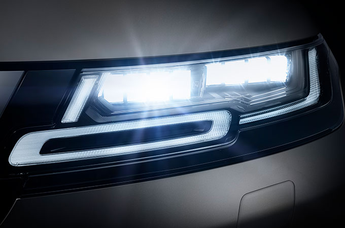 New Range Rover Evoque Premium LED headlights.
