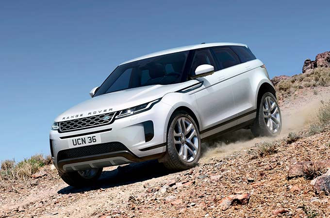 New Range Rover Evoque off road handling.