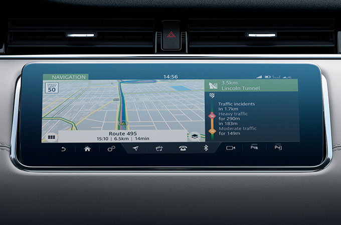 New Range Rover Evoque Touchscreen with Navigation Pro.