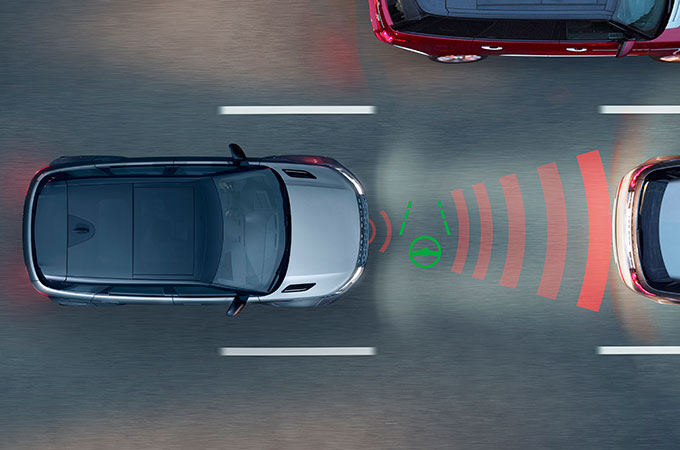 New Range Rover Evoque Adaptive Cruise Control with Steering Assist.