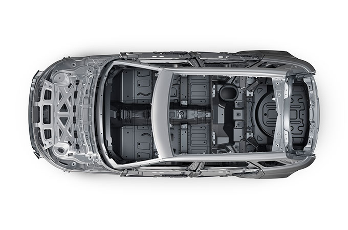 New Range Rover Evoque Aluminium Skeleton.