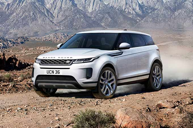 New Range Rover Evoque off road driving.