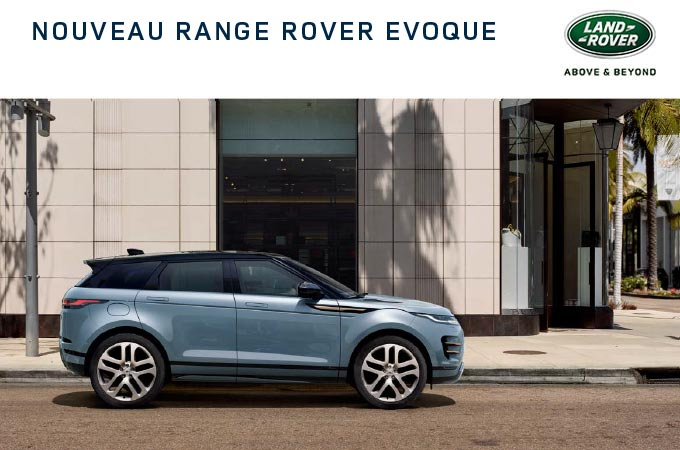 An urban SUV: the Range Rover Evoque's brochure.
