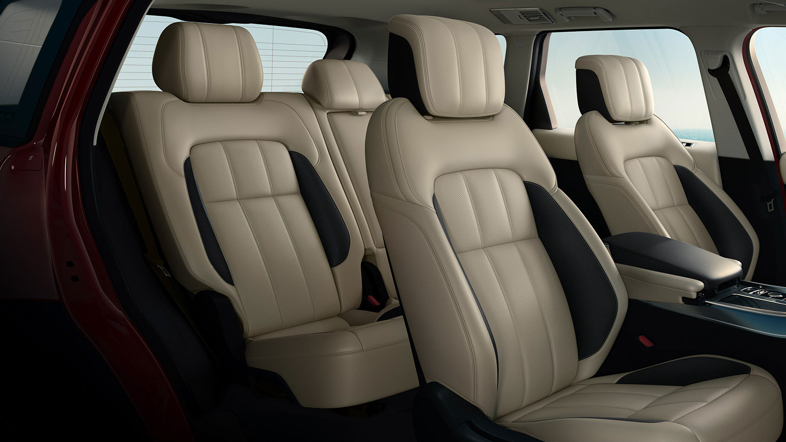 Duo-tone seats with suedecloth bolsters