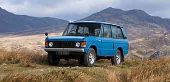 A classic Range Rover on the Moors