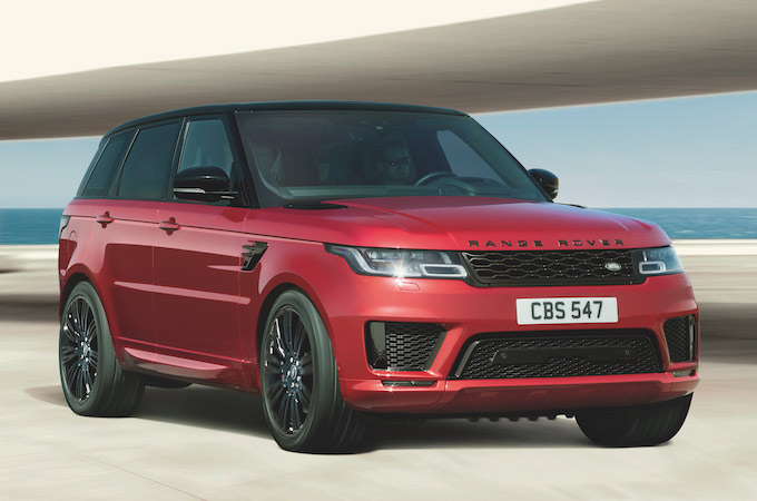 Land Rover Range Rover Sport in red