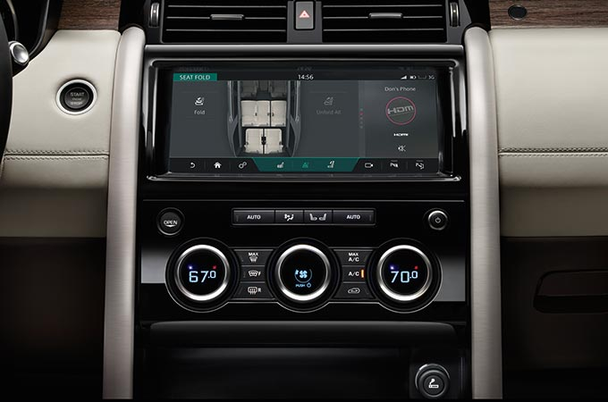 Land Rover Discovery Comfort and Convenience.