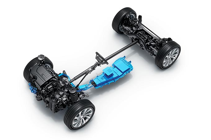Discovery Sport MHEV architecture.