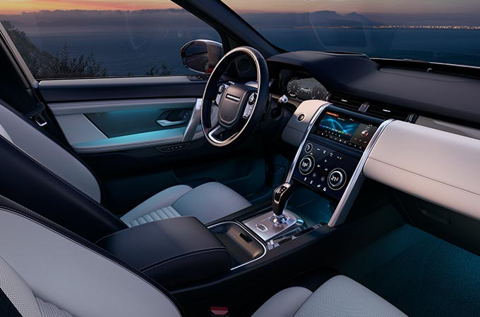 Discovery Sport Interior Configurable Ambient Lighting.