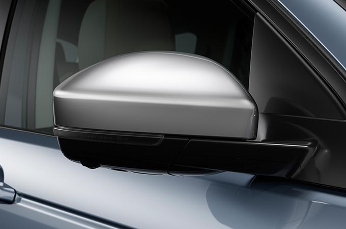 Close up of Discovery Sport Mirror Covers.
